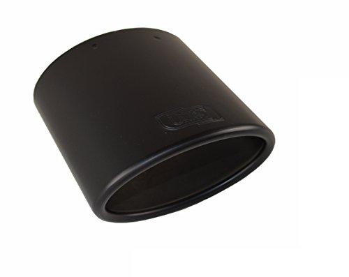 CARTUNER Auspuffblende E81 E82 E87 E88 Edelstahl schwarz matt 120x80mm