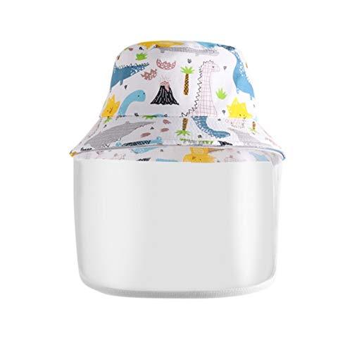KCBYSS Los niños del Sombrero del Cubo Anti-Polvo Anti-Niebla Anti-Sombrero de Padres de Niños Niñas Niños Pescador Cubierta Protectora Exterior (Color : White Kid)