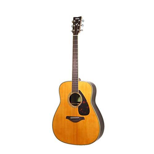 Musikinstrumente Gitarre E-Gitarre Yamaha FG830 Ballade Board Electric Box Anfänger Student Männer und Frauen 41 Zoll Gitarren (Color : Wood Color, Size : 103 * 40 * 12cm)