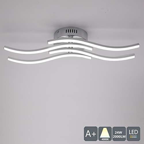 Plafoniera LED da Soffitto, Lampadario soggiorno, luce bianca neutra 4000K, 2000lumen 24W lampadario, Lampada moderna da soffitto per soggiorno camera da letto o cucina, 220V IP20(Luce Bianca Neutra)