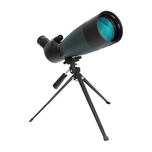 20-60x80 HD Spotting con adaptador de teléfono y trípode y estuche de transporte Telescopio BAK4 Prism FMC Lens Ocular en ángulo de 45 grados para telescopio astronómico de observación de aves objeti
