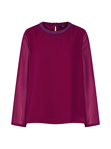 ONLY Damen onlCADIZ 7/8 Sleeve TOP WVN Bluse, Violett (Plum Caspia), 36