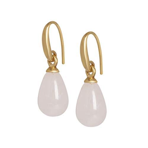 SENCE Copenhagen Earrings Ohrringe Essentials Rose Quartz Matt Gold A516