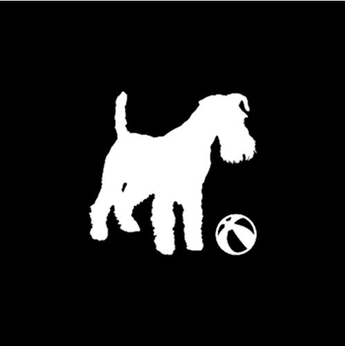 GenericBrands 5 Piezas Pegatina de Coche 15 CM * 14,5 CM calcomanía de Vinilo Lindo Perro Cachorro Pegatina de Coche Blanco