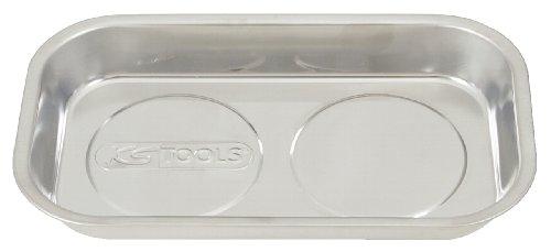 KS Tools 800.0151 Vassoio Magnetico in Acciaio Inossidabile, 2 Magneti, 140 X 240 mm
