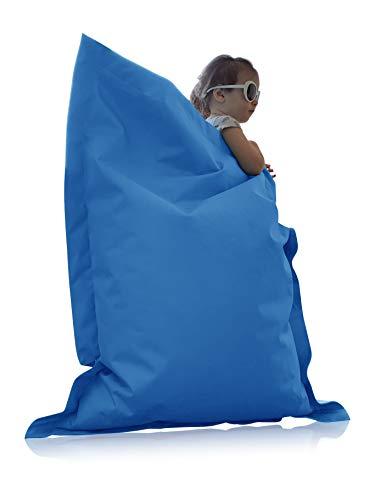 alibey zitzak rechthoekig Junior | Indoor en Outdoor zitkussen speciaal voor kinderen in 16 kleuren | 70 x 100 cm XS = 70 x 100 lichtblauw