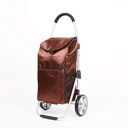 WXDP Selbstfahrend Einkaufswagen, Aluminium Einkaufswagen Einkaufswagen Kletterwagen Tragbarer Kleiner Wagen Klappwagen Wagen für ältere Menschen Einkaufswage