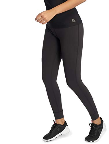 Reebok Lux High Rise Leggings, Damen L Schwarz