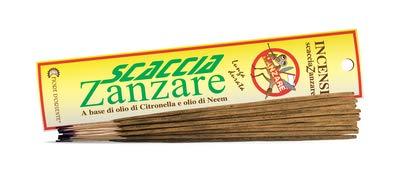 Fiore D'Oriente Incensi Scacciazanzare con Oli di Citronella e Neem 10 Sticks 100% Natural Products