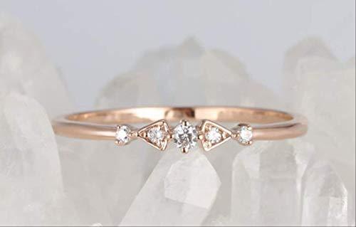 IWINO Vintage Fancy Row Diamond Simulation Diamond Ring Light Luxury Tail Ring Engagement Banquet Ring Girl