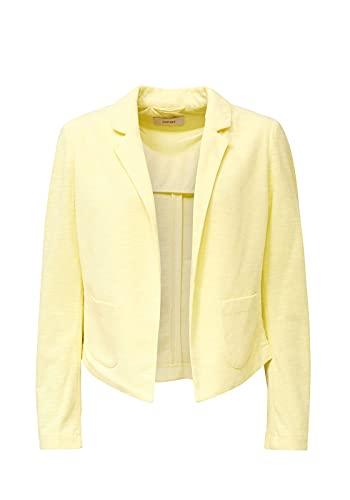 ESPRIT Damen 040EE1G308 Blazer, 760/LIME Yellow, 38