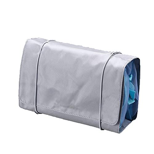 ZTTZX Trousse de Toilette à Suspendre, Trousse Pliable pour Homme et Femme Compartiment Transparent détachable pour Valise Cabine en Voyage Avion (Gray,24 * 15cm)