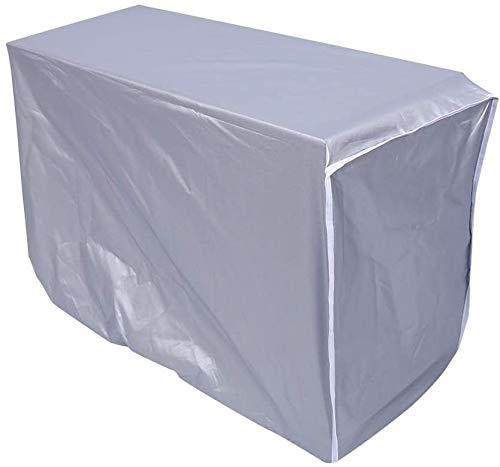 Copertura per Condizionatore Protezione Antipolvere Impermeabile Schermo in Tessuto d'argento (80 * 28 * 54cm)