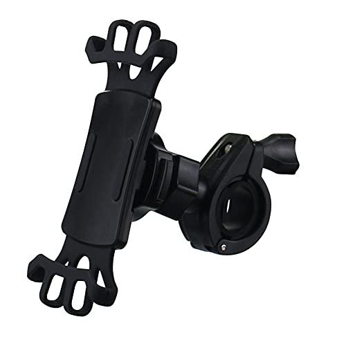 Soporte Movil Bici, Trpambvia Universal Soporte para Teléfono para Bicicleta y Motocicleta Anti Vibración Soporte para Teléfono Rotación de 360 °Ajustable para Teléfonos de 4.0-6.5 Pulgadas Negro