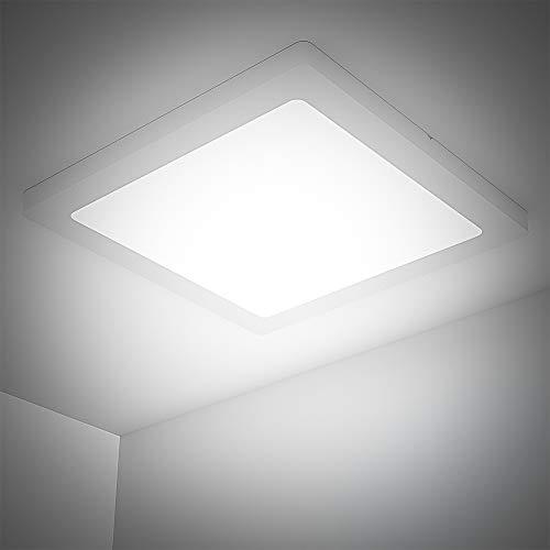 24W LED Deckenlampe Quadratisch, Deckenleuchte Schlafzimmer Modern,1920LM Kaltweiss Deckenleuchte, 4000K Naturweiß Badezimmer Deckenlampe, LED Deckenleuchte für Wohnzimmer, Küche, Balkon, Kinderzimmer