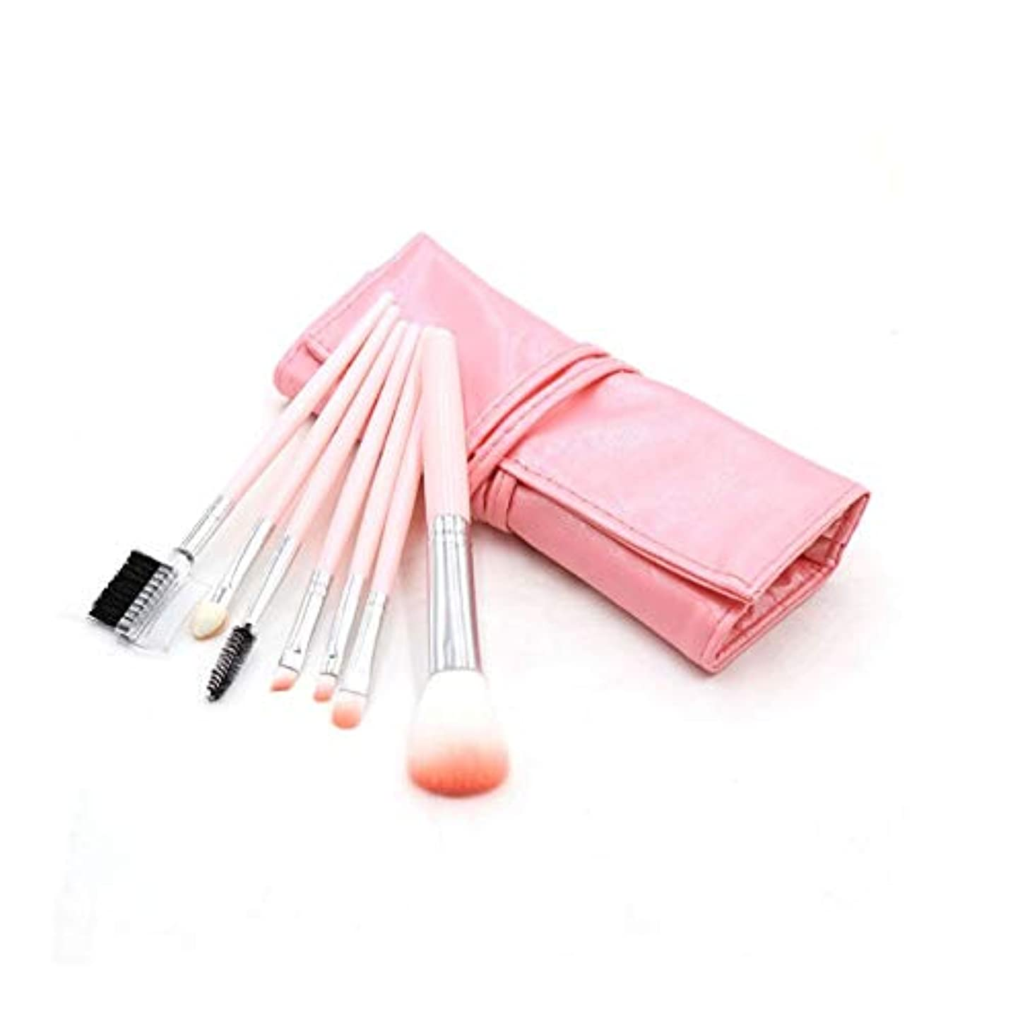 技術的な光の危機化粧ブラシセット、ピンク7化粧ブラシ化粧ブラシセットアイシャドウブラシリップブラシ美容化粧道具