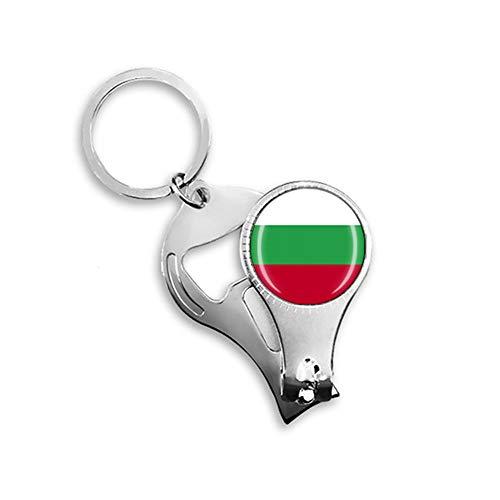 Bulgarien Nationalflagge Nagelknipser Schlüsselanhänger Rucksack Anhänger Schlüsselanhänger Geschenk Reise Souvenir Multifunktionskombination