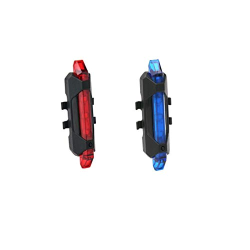 Geeke 2 Fahrradrücklichter, superhelle, wiederaufladbare USB-Fahrradrücklichter, rote,Blau hochintensive LED-Zubehörteile können an jedem Fahrrad oder Helm montiert Werden