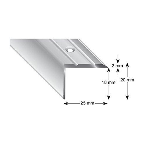 Kogele 105A SD 100 traphoek aluminium zand geanodiseerd, geperforeerd, 25/20/1000 mm