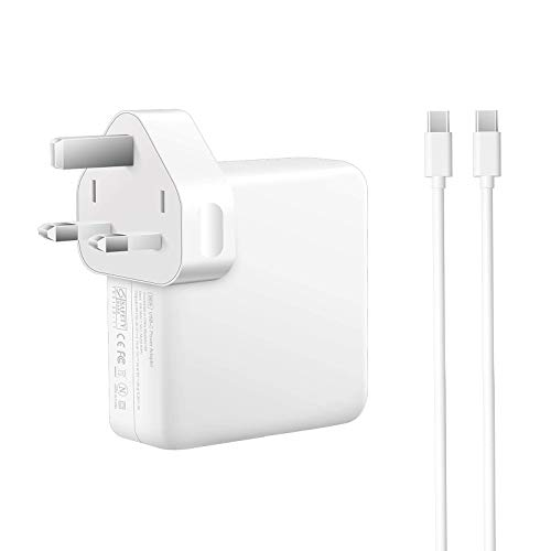 USB-C 96W Charger Adapter Fast Charging Power Supply with 5.9Ft USB-C Cable Compatiable with 96W/ 87W /61W MacBook Pro 16'' 15'' 13'' 2016 Late, MacBook Air 2018 Late, iPad Pro, Air and more Laptops