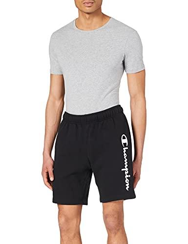 Champion Legacy Classic Logo Pantalones Cortos, Negro, XL para Hombre