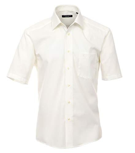 Casa Moda 008070 Comfort Fit Chemise à manches courtes sans repassage pour homme - Beige - 42