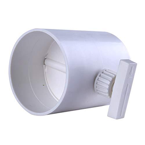 XIAOFANG HLK-Handbuch-Kunststoff-Luftkanal-Rückschlagventil-Volumenstrom-Dämpfer-Fit für die Belüftung Flexible Rohr 80/100 / 120 / 150mm ABS (Voltage : 100mm)