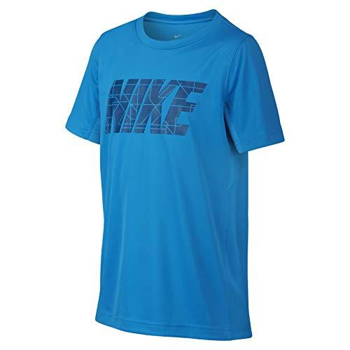 Nike Jungen Dry Top Shortsleeve Graphics Legacy Boys T-Shirts, blau, S