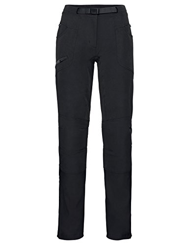 VAUDE Pantalon Skarvan pour Femme, Femme, Pantalon, 40928, Noir, 42 Lang