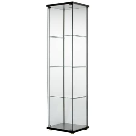 Amazon Com Ship From Usa Ikea Detolf Glass Door Cabinet Black Brown Packno 5r27g2 1c82hy2433 Furniture Decor