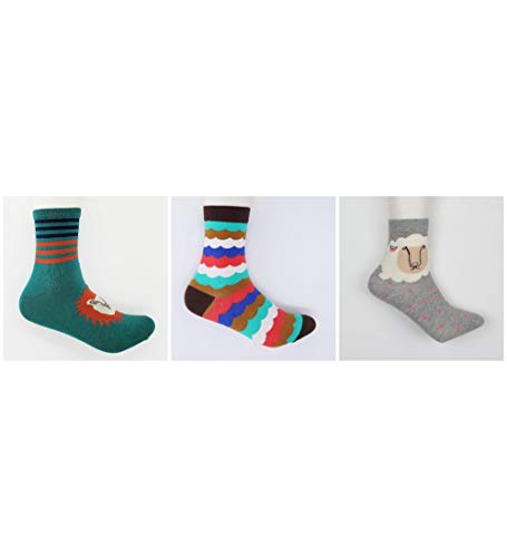 RTESBGH Socken Bunt,Lion Schafe Muster Neuheit Gerne Socken Lustige Mann Frauen Kunst Crew Socken Aus Baumwolle Farbe Casual Harajuku Muster Skate Designer Fashion Socken