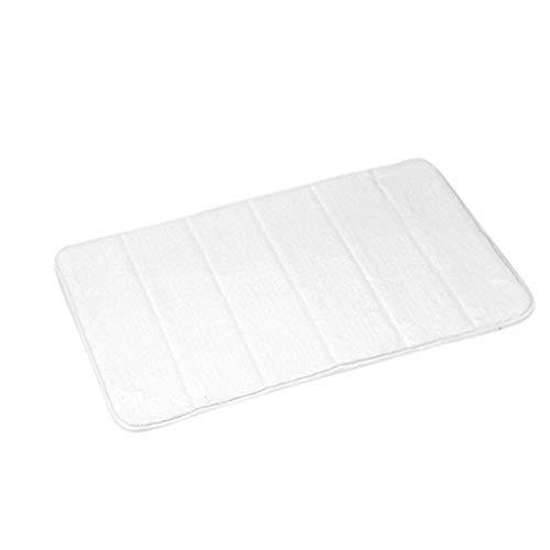 douceur d'intérieur 6GMB271BC Vitamine Tapis Mémoire de Forme Uni Polyester Blanc 60 x 40 x 1 cm