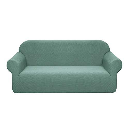 Granbest - Funda de sofá elástica resistente al agua, 1 pieza, funda de sofá de spandex Jacquard elástica con espuma antideslizante (3 plazas, salvia)
