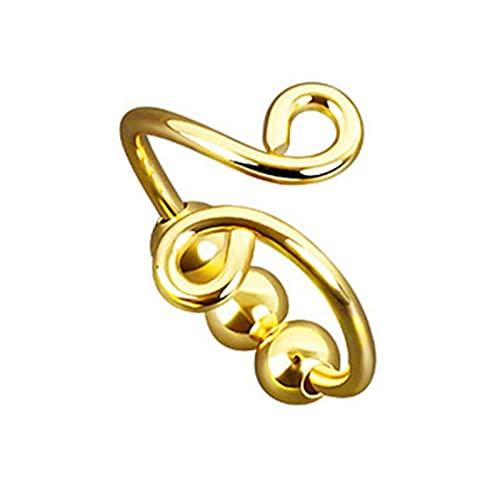 goodluccoy Anillos para Mujeres de ansiedad Anillos Ajustables para niñas Adolescentes Mejor Amigo Spinner Girar libremente Cuentas Dainty Trendy Jewelry Anillos de ansiedad para Mujeres
