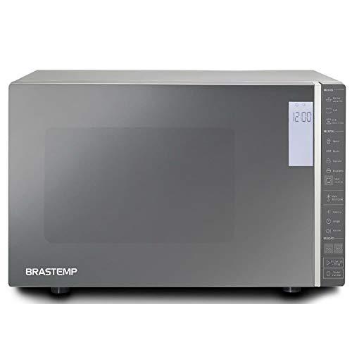 Micro-ondas Brastemp 32 Litros cor Inox Espelhado com Grill e Painel Integrado - 220V