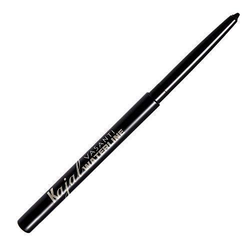 VASANTI Kajal Waterline Eyeliner (Black) - Opthalmologist Approved and Tested Long-lasting Waterproof Paraben-Free Eye Makeup
