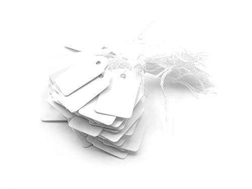 Vintageparts Hängeetiketten Preisschilder in weiß 100 Stück Veranstaltungen Messen Märkte Geburtstage Weihnachten Geschenk Geschenkanhänger Namensanhänger Namensschild
