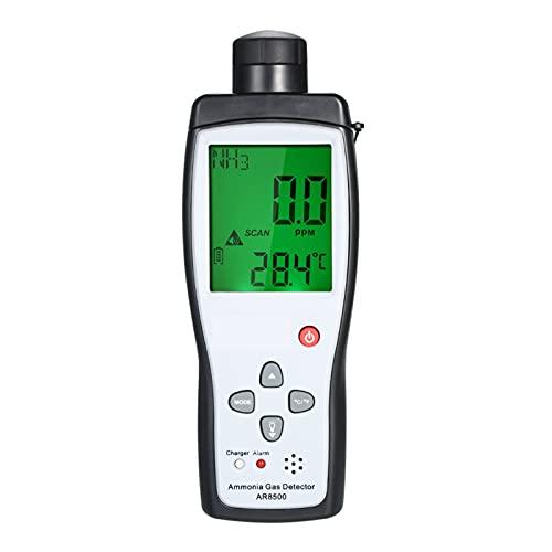 MING-MCZ Detector de Gas Natural Digital AR8500 Rango de Monitor de Gas de amoníaco de Mano 0-10 0ppm Alarma de luz de Sonido NH3 Detector detectores de Gas para el hogar Gas Natural