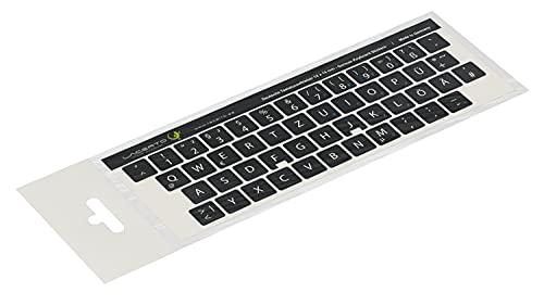 Lacerto® | 14x14mm Deutsche Aufkleber für PC/Laptop & Notebook Tastaturen mit mattem kratzfestem Laminat, Germany Keyboard Stickers QWERTZ | Farbe: Schwarz