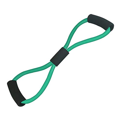 siqiwl Bandas de Resistencia 8 Palabra Fitness Cuerda Resistencia Bandas de Goma para Fitness Elastic Band Fitness Equipment Expander Workout Gym Exercise Train Green