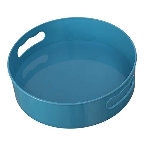 Fenteer Bandeja de Almacenamiento Giratoria Giratoria, Organizador de Almacenamiento de Botellas de Condimento, Cocina, Encimera Multiusos, Soporte para Baño, Azul, tal como se describe