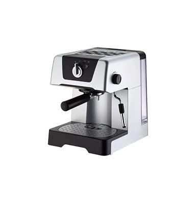 Ekspres do kawy, 15bar Machines Espresso, szybka ekspres do kawy z mlekiem frotheat, 1,4l wymienny zbiornik wodny, dla hoteli, pokoi, biur, kuchni itp (Color : Silver)