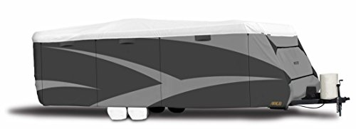 """ADCO 34844 Designer Series Gray/White 26' 1"""" - 28' 6"""" DuPont Tyvek Travel Trailer Cover"""