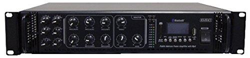 GBC cod.61611245-AMPLIFICATORE PROFESSIONALE 100V/180W A 6 ZONE CON MP3, FM SCAN E BLUETOOTH