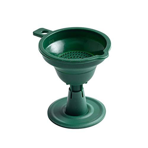 Embudo de cocina de silicona plegable mini embudo verde utilidad de cocina para vino, aceite, salsas y otros condimentos de cocina