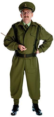Fun Shack Grünes Britischer Soldat Kostüm für Herren - L