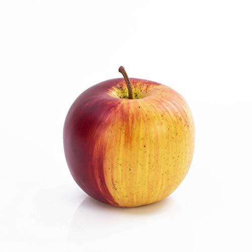 artplants.de Deko Apfel, rot - grün, Ø 8cm - Plastik Obst - Künstliches Obst