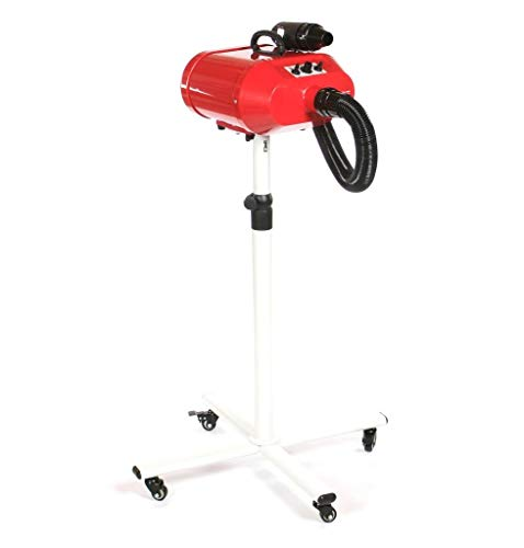 Pedigroom doble motor perro aseo secador móvil en soporte Blaster calentador rojo