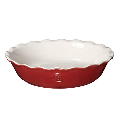 "Emile Henry Modern Classics Pie Dish 9"", 9"", Rouge Red"