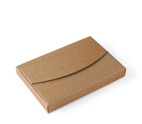 Selfpackaging Caja para Fotos en cartulina Kraft Bodas, bautizos. Pack de 50 Unidades - L